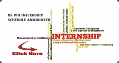 BS: Internship Schedule for Semester VIII 2014