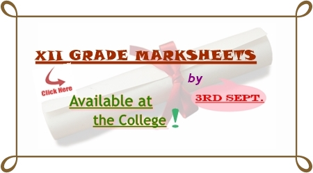 XII-Grade Mark sheets Collection 2014