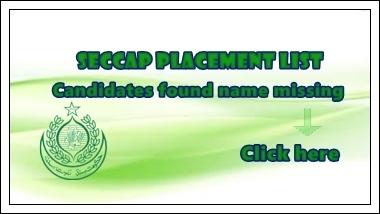 SECCAP Placement List: Missing Names