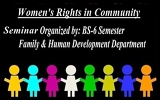 "Seminar: ""Women's Rights In Community"""