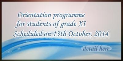 Orientation Program for XI Graders