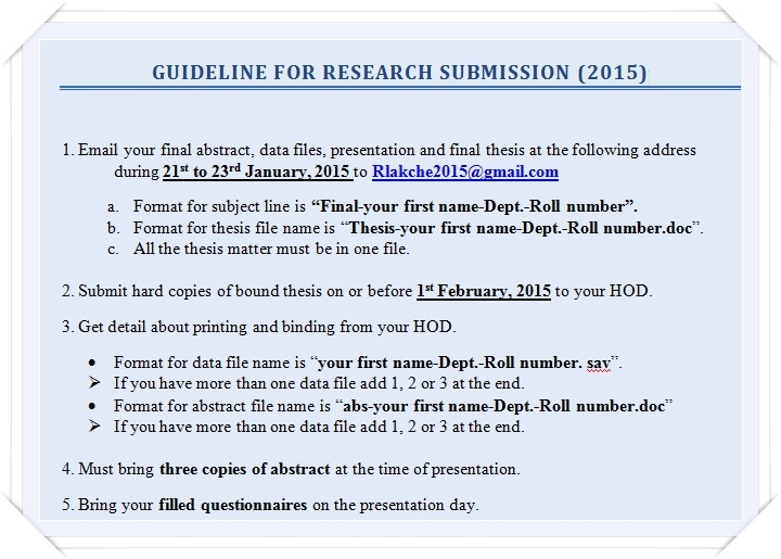 Guideline to Research Submission 2015