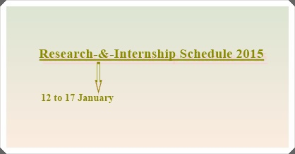 Research-&-Internship Schedule Jan. 2015