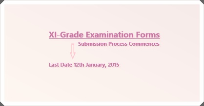 XI-Grade Examination Forms