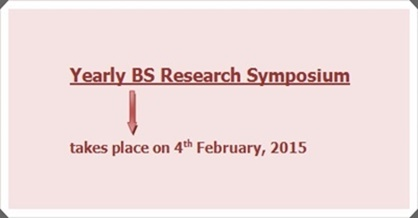 Yearly BS Research Symposium