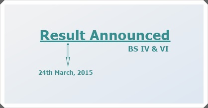 BS IV & VI Results 2015