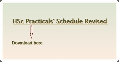 Revised Schedule for HSc Practicals 2015