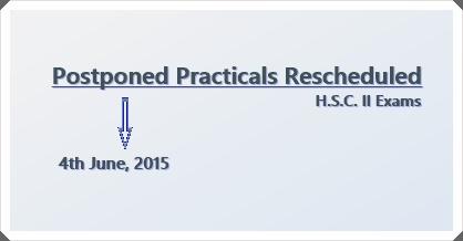 H.S.C. II Postponed Practicals Resceduled