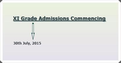 Admissions to XI Grade Under SECCAP 2015-16
