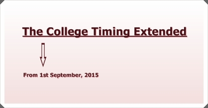 College Timing Extended