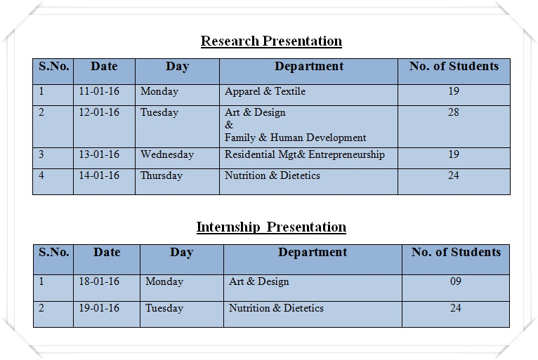 Research-&-Internship Schedule 2016