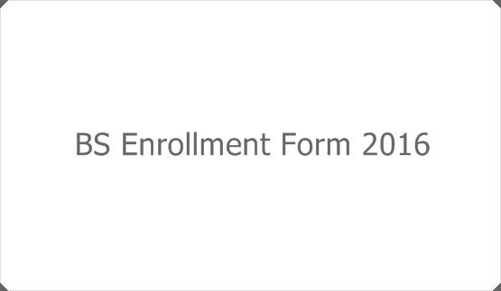 BS Enrollment Form 2016