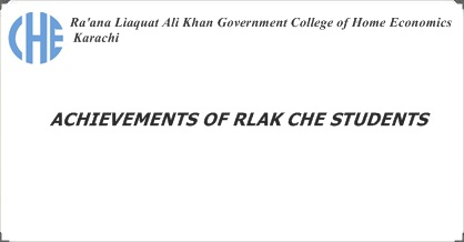 ACHIEVEMENTS OF RLAK CHE STUDENTS