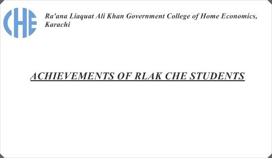 ACHIEVEMENTS OF RLAK CHE STUDENTS