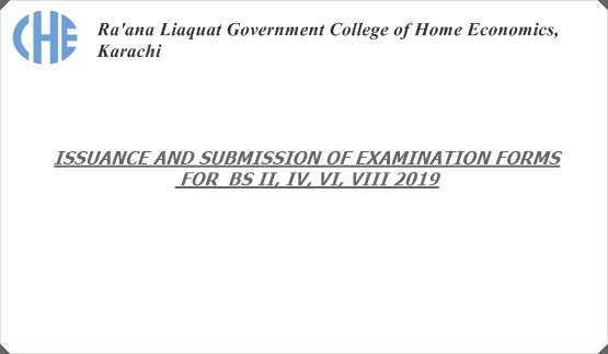 Issuance and Submission of Examination Forms for BS II, IV, VI, VIII 2019