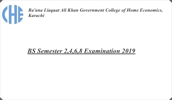 BS Semester 2,4,6,8 Examination 2019