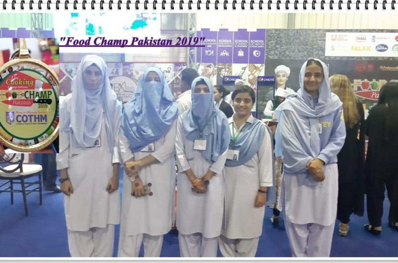 """Participation of RLAK CHE Students in """"Food Champ Pakistan 2019"""" at Expo Center"""