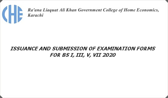 ISSUANCE AND SUBMISSION OF EXAMINATION FORMS FOR BS I, III, V, VII 2020