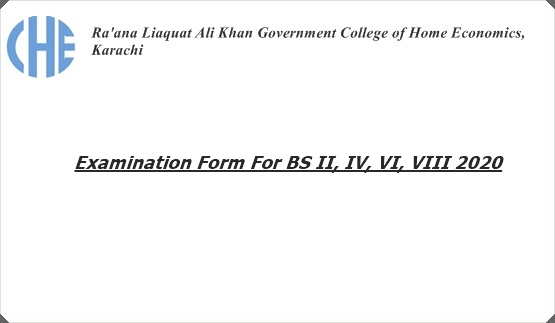 Examination Form For BS II, IV, VI, VIII 2020