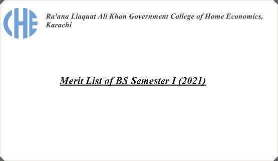 Merit List of BS Semester I (2021)