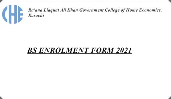 BS Enrollment Form 2021