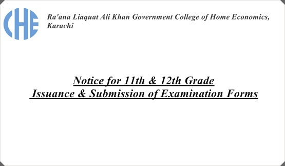 Notice for 11th & 12th Grade: Issuance & Submission of Examination Forms