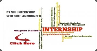 BS: Internship Schedule for Semester VIII 2014