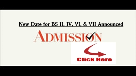 BS: New Admission Date