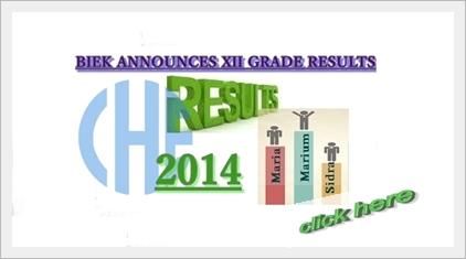 XII Grade Exam Result Announced