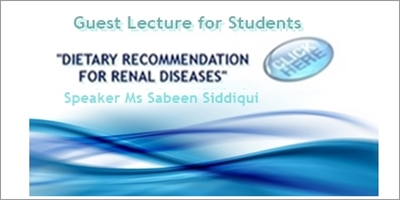Guest Lecture: Dietary Recommendation for Renal Disease