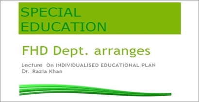 Guest Lecture: Individualised Educational Plan
