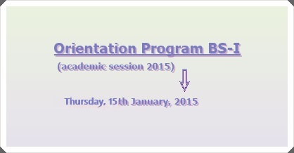 Commencement of New Academic Session for BS Home Economics