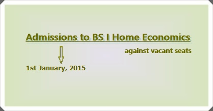 BS-I Admissions Against Vacant Seats