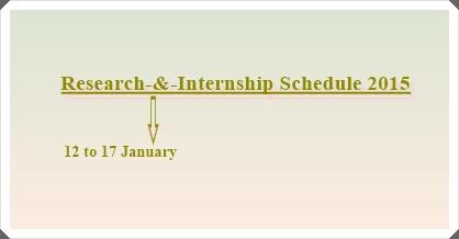 Research-&-Internship Schedule Jan. 2015