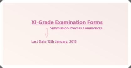 XI-Grade Examination Forms