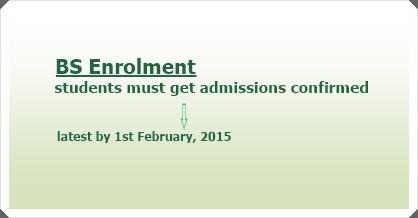 BS Enrolment 2015