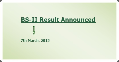 BS Semester II Result Announced