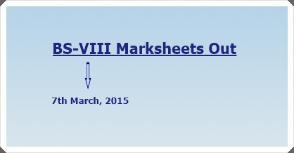 BS-VIII Combined Mark Sheet Out