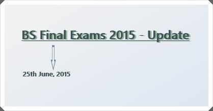 BS Final Exam 2015 – Update