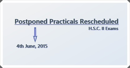 H.S.C. II Postponed Practicals Resceduled