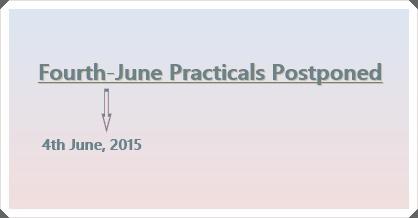 HSC Practicals for 4th June Postponed