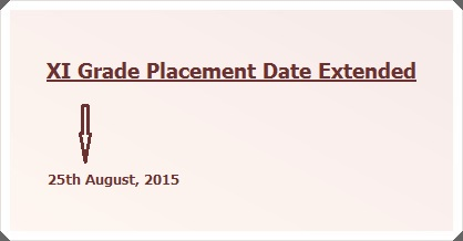 Further Extension in Closing Date for Placement Forms