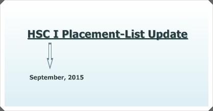 DCEK Update on XI-Grade Placement List