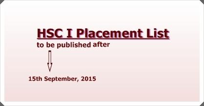 DCEK Update on XI-Grade Placement List 2015