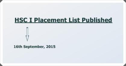 Placement in XI Grade (Home Economics) 2015-16
