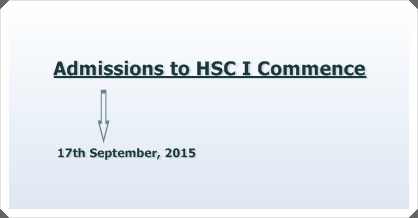 Admission to HSC I Commence