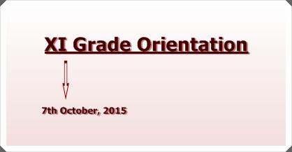 XI Grade Orientation 2015
