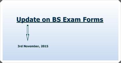 BS Examination Form 2015