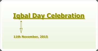 Iqbal Day Celebration 2015