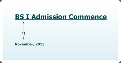 Admissions to BS I, 2016